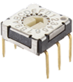 7.2mm x 7.2mm Low Profile Rotary DIP Switch